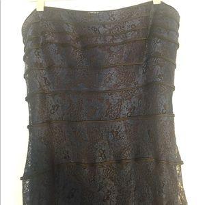 Vintage Tadashi Strapless Evening Gown w/Train